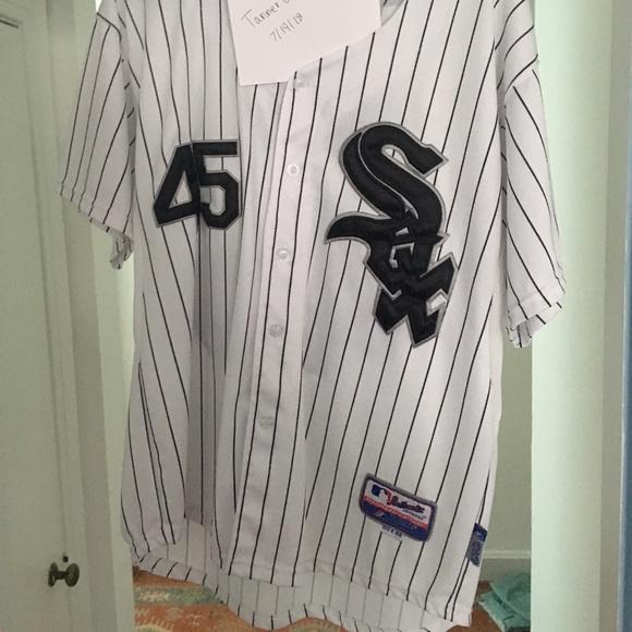 pretty nice 67eb0 2744d Majestic Michael Jordan White Sox Baseball Jersey